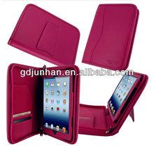 JH-11315 folder leather laptop portfolio for ipad 2 with handle