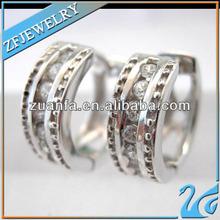 Zuan Fa E1911 hip hop jewelry, hoop earrings ali express