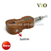 18650 dry battery in wood holder in violin shape vio ecigs