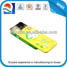 Professional making mint slide tin,mini slide tin