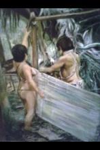 Hammock from moriche Palm tree fiber made by warao's venezuelan Indigenous tribe
