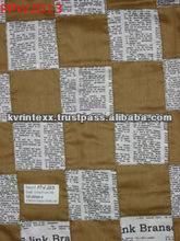 100% newspaper print patchwork fabric mens suit