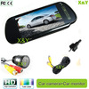 7inch car mirror monitor and 28mm borehole camera IR night vision rear view camera car camera system