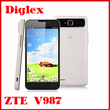 Newest mtk6589 quad core zte v987 8MP camera 1GB 4GB 5.0'' dual sim android phone 2500mAh battery