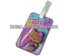 3D hello kitty luggage tag / Soft PVC luggage tag Wholesale