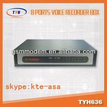 8 line voice recorder / ippbx sip server / voice recording