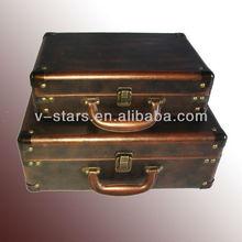 Yz-vs1481 shabby chic valigia in pelle stile vintage viaggio valigia