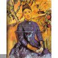 100% سيزان بول اليدوية بالكاتب الشهير وحة زيتية على قماش، مدام سيزان في المعهد الموسيقي