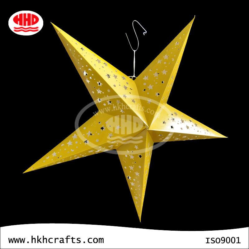 beautiful good quality wedding decoration hanging star paper lantern