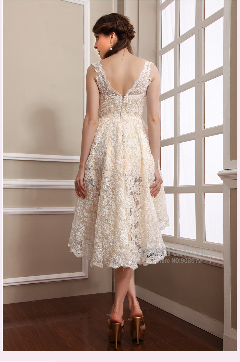 2014 New Design Elegant Empire Embroidered Lace evening dresses online shopping