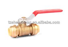 Lead Free Steel handle Full Brass Push fit Valve