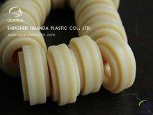 Round Yellow Plastic Nylon Machining Part