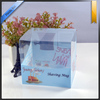 Decorative clear plastic cupcake boxes packaging for custom design