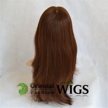 Wholesale fashion 100% human hair brazilian ponytail lace front wig