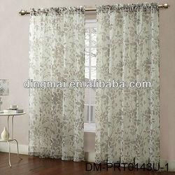 Printed sheer hotel home indian window curtain