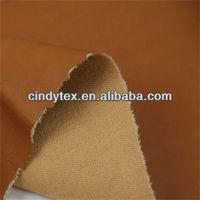 0.65mm camel soft 100% viscose pu faux leather