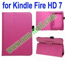 Leather Cover Case for Kindle Fire HD 7 with Pen Holder and Stand