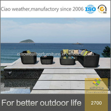 Fashion new design living room&outdoor wicker furniture rattan sofas