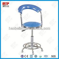 comfortable adjustable height swivel lab stool