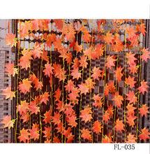 240cm long red maple leaf imitation rattan flower rattan