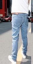 F70076Q jeans wholesale narrow leg restoring ancient ways personality hole han edition men's denim trousers