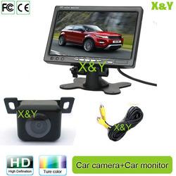 12V Car 7 inch monitor 7 inch car headrest monitor reverse car camera system