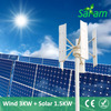 3KW VAWT + 1.5KW PV Panels Off Grid Home Wind Solar Hybrid Power System