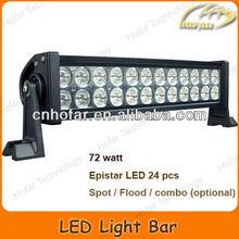 "Super Bright étanche 13.5 "" 10 - 30 V 72 W offroad led spot light bar 24x Epistar led Auto Trader"