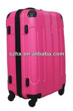 2013 rose red beautiful design ABS travel luggage set