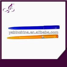 good quality colorful barrel click printing school sign pen