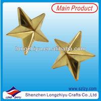 Die Cut Gold Plating Brass Custom 3D Star Badge Round Souvenir Military Lapel Pin Annivesary Pins Badges