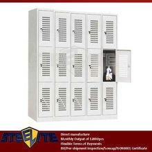 individually 3 tier mesh locker/15 compartments air locker steel airing cupboard price/bathroom locker cabinet with vents