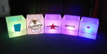 Multi-led color ice cooler with imprint logo