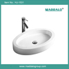 New Sanitary Ware Products/Oval Porelain Vessel Basin Sink With Overflow