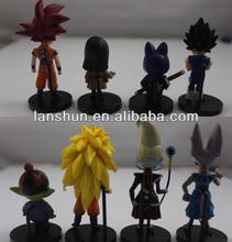 "8pcs Set Dragon Ball Z Goku Characters Movie 2.4""-3.5"" Mini Figure collectible Loose"