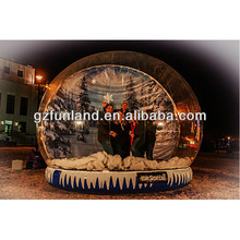 Human Snow Globe.Wholesale advertising promotional giant inflatable snow globe for christmas decoration
