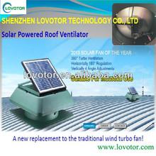 Adjustible 20- 30 watt solar panel attic fan industrial roof exhaust fan got CE&RoHS approved