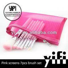 Professional distributor!Pink screen 7 pcs brush set shine makeup brushes