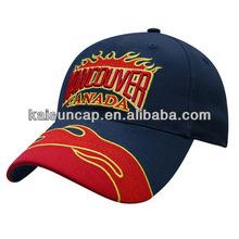 Top grade embroider cotton 6 panel men hat baseball cap