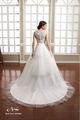 2014 passado bordado elegante uma linha branca de vestidos de noiva de imagens