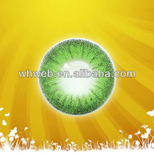 Vogue fluorescent green eyes crazy contact lens Q089/plano circle contact lens with a distinctive style