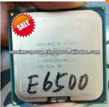 desktop cpu processor dual core used CPU E6500 processor sz& hk stock wholesaler