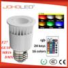 Factory price rgb led spolight e27/mr16/gu10/dmx 16 colors AC85-265V & 12V