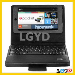 Top Classic IS11-Nexus Litchi Texture Detachable Bluetooth Keyboard Leather Case for Google Nexus 7 (2012 Version) , Black