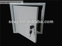 white powder coating steel access panel cam latch key system