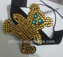 Resin imitation diamond bear and Fabric headbands for girls