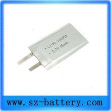 High quality 3.7V China li-polymer 3.7V li Polymer Battery 1500mah 103048