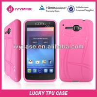for alcatel ot5035 hot pink tpu skin covers