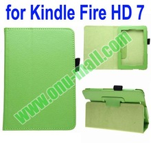 For Kindle Fire HD 7 Litchi Texture Pattern Leather Case Cover with Holder