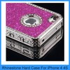 Pink Luxury Bling Glitter Diamond Chrome rhinestone Hard Cell Phone Case For iPhone 4 4S 4G